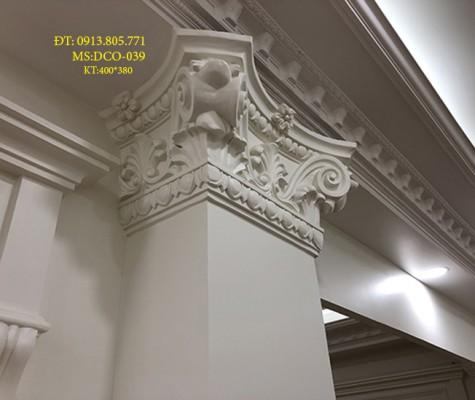 Thạch cao   đấu cột trang trí ngoại thất